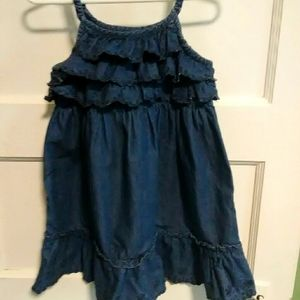 Girls Jean dress baby gap